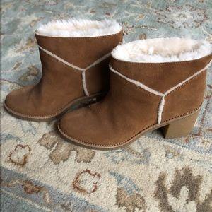 UGG shearling block heel booties